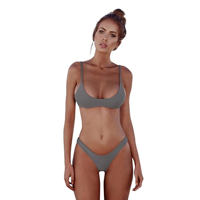 Amlaiworld Classico benda bikini 2 pezzi donna costume da bagno 2018 ...
