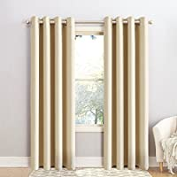 Maevis Blackout Window Curtain 2 Panels, Grommets Top Drapes-Room Darkening Thermal Insulated Window Treatments