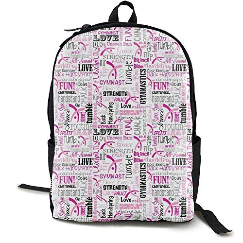 DKFDS Backpacks Gymnastics Laptop Backpack,Travel Computer Bag for