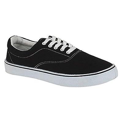12419ee3c2 UNISEX LACE UP MENS WOMENS PLIMSOLES PLIMSOLLS PUMPS TRAINERS ESPADRILLES  DECK SKATE SHOES CANVAS BOYS GIRLS ADULT SIZES 7-12: Amazon.co.uk: Shoes &  Bags