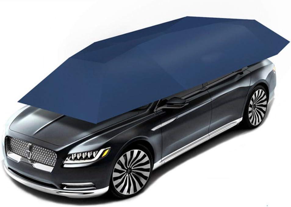 Tenda per auto automatica per posto auto coperto pieghevole portatile intelligente telecomando protezione solare ombrello copertura 4,6 m 2,3 m anti-UV//neve//resistente alle intemperie,Silver