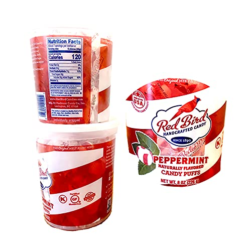 All Natural Handcrafted Candy Peppermint Natural Flavored Candy Puffs Individual Wraps (Since 1890) Made In USA [ AmazingNY ] (2)