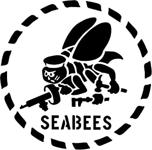 Navy Seabees Decal Sticker Car Motorcycle Truck Bumper Window Laptop Wall Décor by Bear Graphics
