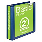 Wilson Jones 2 Inch 3 Ring Binder, Basic Round Ring View Binder, Blue (W362-44BL)