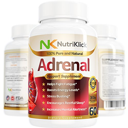 Adrenal Support Supplement Helps fight Fatigue and Mood swings Boost Energy & Mental Alertness Be less Stressed & Anxious Encourages Restful Sleep Increases Concentration - 30 Day Supply