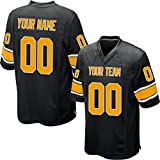 Custom Black Mesh Replica Football Game Jersey Embroidered Team Name and Your Numbers