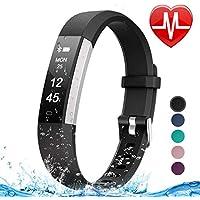 Letsfit Fitness Tracker HR, reloj con monitor de frecuencia cardíaca, IP67, podómetro impermeable, monitor de sueño, contador de pasos, rastreador de actividad delgado para mujeres y hombres