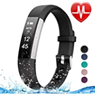 Letsfit Fitness Tracker HR, Heart Rate Monitor Watch, IP67 Waterproof Pedometer Watch, Sleep...