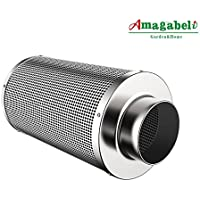 Amagabeli 4 inch Carbon Filter Odor Control for Hydroponics Indoor Plants Grow Tent 4 in Air Filters with Australia Activated Virgin Charcoal 4 Air Scrubber for Inline Fan Combo Pre-filter Included
