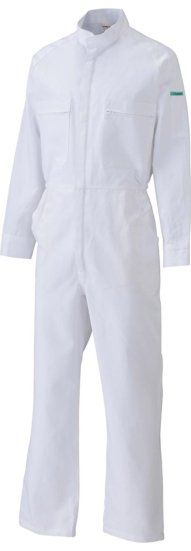 [サンディスク]SUN DISK【ツナギ服】通年 国内染色 綿100% ホワイト 長袖ツヅキ服《044-490》 B01EZ24IMO 5L|490-ホワイト 490-ホワイト 5L