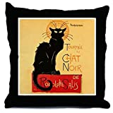 CafePress Famous Black Cat French - Decor Throw Pillow (18''x18'')