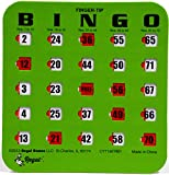 Regal Games 10 Green Fingertip Shutter Slide Bingo Cards