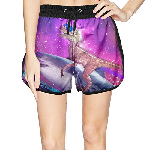 Navigator Quick Dry Shorts - Juliuse Marthar Women's Dinosaur Shark Galaxy Space Fashion Swimming Trunks Short Quick Dry Summer Short