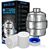 Baulia 10-Stage Shower Water Filter – Easy Installation for Any Shower Head or Sink – Water Purifier System – Removes Chlorine Heavy Metals Sulfur Odor & Other Byproducts Includes 2 Cartridge Filters