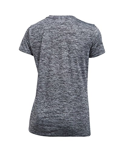 Under Armour Women's Tech Twist V-Neck, Black /Metallic Silver, X-Small by Under Armour (Image #3)