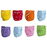BIG ELEPHANT 8 Pack Solid Color Baby Toddler
