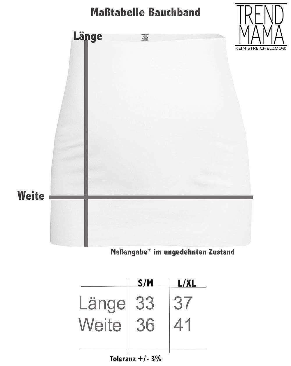 Wiesn Umstandsmode Bauchband mit Lebkuchenherz Print Mini Spatzl inside/® Zuckergu/ßrand hellblau