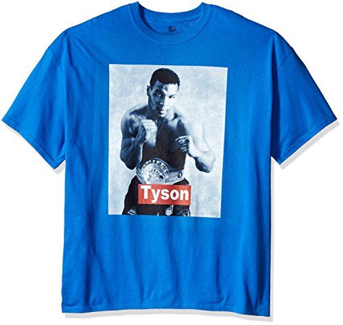 Big And Tall Word T-shirt (Boxing Hall of Fame Men's Big and Tall Mike Tyson Word Bar T-Shirt, Royal, 3XL)
