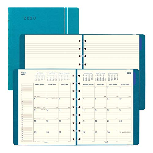Filofax 2020 Filofax Monthly Planner, English/French, Aqua, 9.25 x 7.25 inches (C1891004-20) (Rediform Monthly Planner)