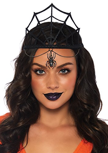 Leg Avenue Women's Spider Web Crown Costume Accessory, Black, One ()