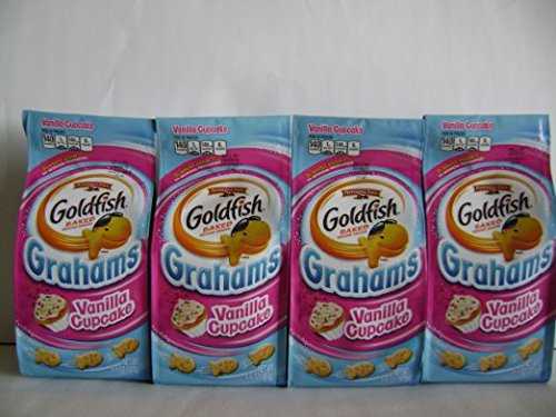 Pepperidge Farm Goldfish Grahams, Flavor Blasted Vanilla Cupcake, 6.6(packof6bags)
