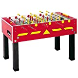 Garlando G-500 Red Weatherproof Foosball Table with Safety Telescopic Rods and Abacus Scorers. Includes 10 Standard Balls.