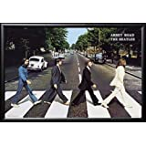 The BEATLES - Abbey Road 36x24 Dry Mount Poster Matte Back Wood Framed