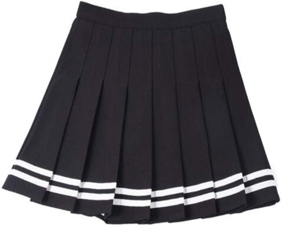 KLGDF Falda Faldas Plisadas de Cintura Alta Faldas Kawaii Harajuku ...