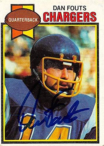 Dan Fouts autographed football card (San Diego Chargers) 1979 Topps #387 - NFL Autographed Football Cards ()