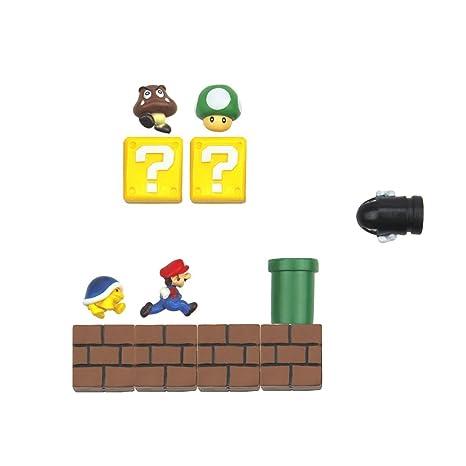 Amazon.com: 12 Paquetes Mario juego de imanes de nevera para ...