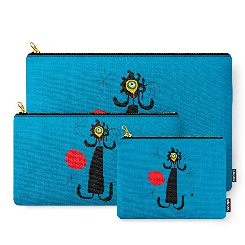 Miro Abstract Painting - Society6 Art Work Inspired To J. Mirò (n.4) Carry-All Pouch Set of 3