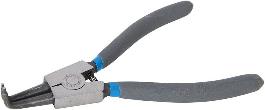 Silverline PL75 - Alicate curvado para anillos de retención exteriores (180 mm)