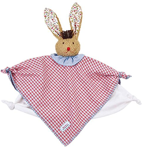 Kathe Kruse Classic Bunny Towel Doll for Newborns, Checkered