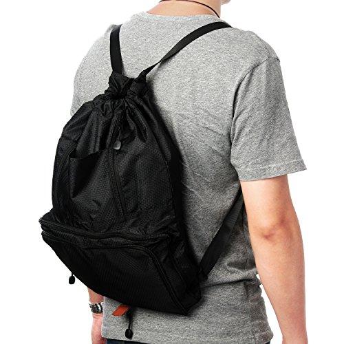 Amazon.com: Chnano Drawstring Bag, Foldable Drawstring Backpack ...