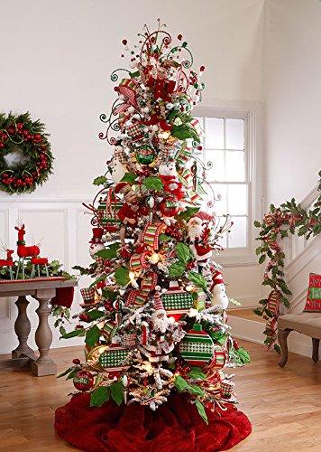VIPASNAM-Santa plush Christmas ornament decoration set of 2 rzchhh 361646 NEW RAZ by VIPASNAM