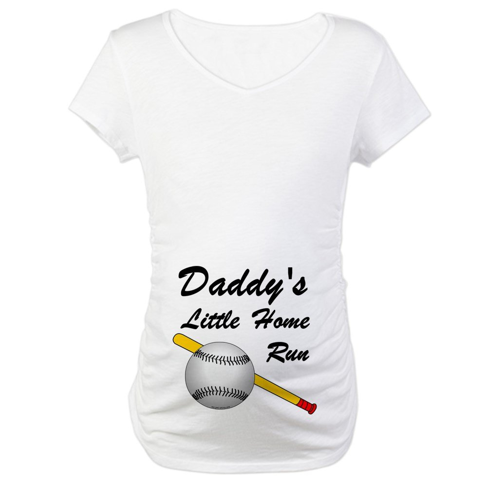 3c9be9414bc41 CafePress Dad's Home Run (belly Maternity Tee White at Amazon Women's  Clothing store: