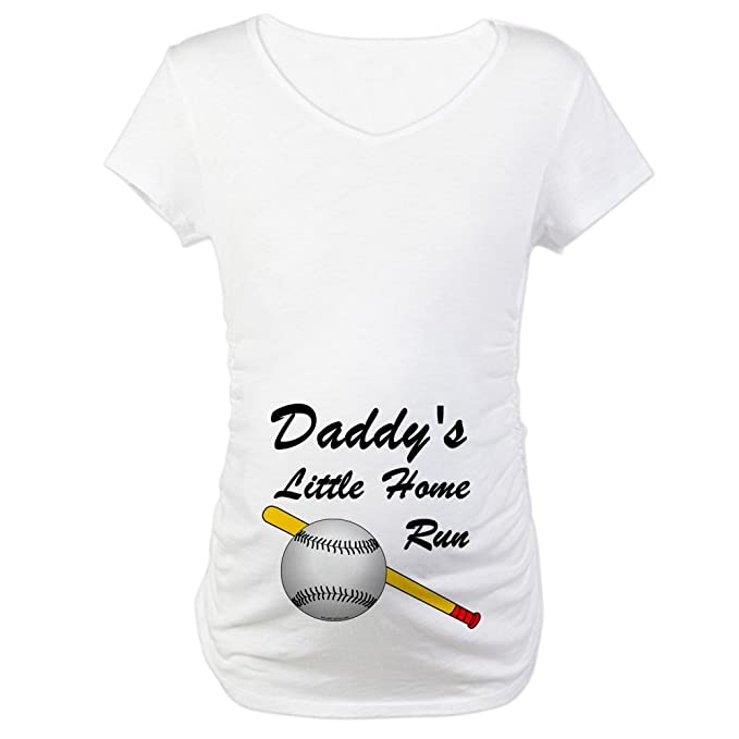 78e4a90ee74bc CafePress Dad's Home Run (Belly Image) Maternity T-Shirt Cotton Maternity T-