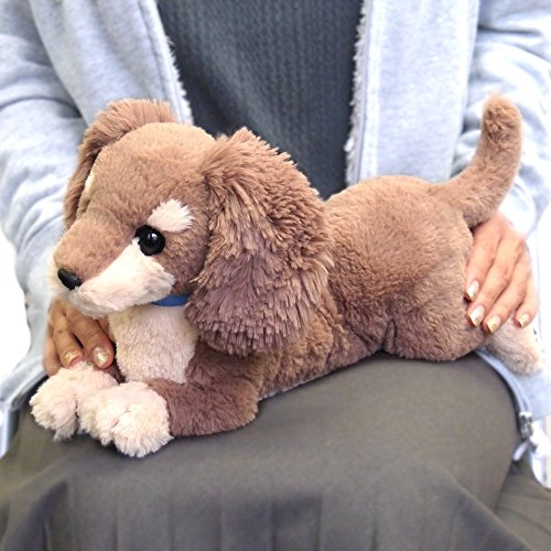 Sun Lemon Hizawanko Dog Plush on Lap Real-Feeling Miniature Dachshund P-3022