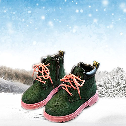 Morbuy Kids Winter Fashion Boots, Unisex Baby Boy and Girl Shoes Outdoor  Waterproof Warm Soft Comfortable Christmas Gift Toddler Slip-on Martin Boot:  ...