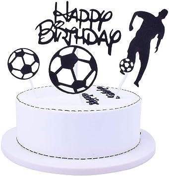 Amazon.com: Shami - Decoración para tarta de fútbol para ...