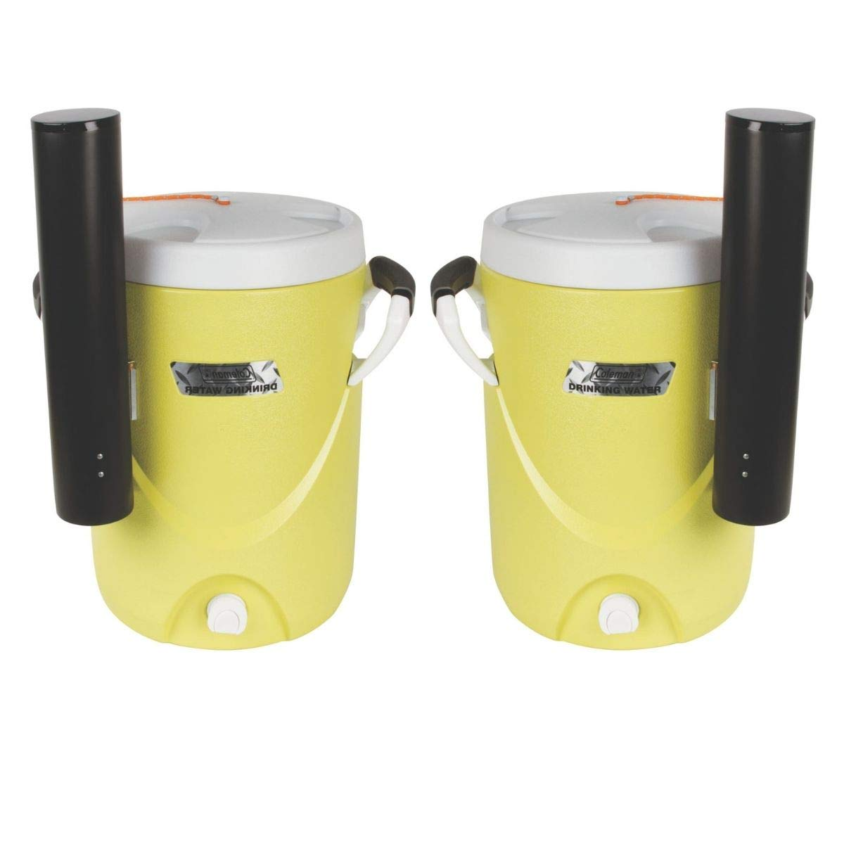 Coleman 3000004064 Beverage Cooler,5 gal,Plastic G4326485 (Yellow/Set of 2)
