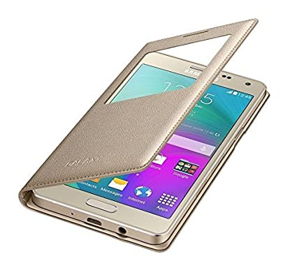 new style 0540a 276af RayKay Leather Gold Golden Flip Cover Case For Samsung On7 Pro Flip Cover,  Samsung Galaxy On7 Pro Flip Cover