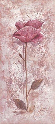 Oil painting ` aピンクFlower `印刷ポリエステルキャンバスに、8x 18インチ/ 20x 46cm、ホームアートワークとギフトは最高この価格、最高のバスルーム装飾アート装飾プリントキャンバスの商品画像