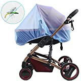 Baby Mosquito Net for Strollers, Car Seats, Bassinet, Car Seats, Bassinets, Cribs & Cradles, High Density and Soft Durable Insect Shield Netting - Blue
