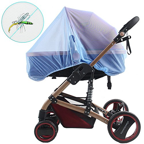 Baby Mosquito Net for Strollers, Car Seats, Bassinet, Car Seats, Bassinets, Cribs & Cradles, High Density and Soft Durable Insect Shield Netting - Blue by WATTA