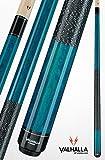 Viking Valhalla 2 Piece Pool Cue Stick with Irish Linen Wrap VA113 (21oz, Blue)