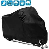 PUBAMALL Cubierta Impermeable para Motocicletas, protección contra el Polvo, escombros, Lluvia y Clima, Aptos para…