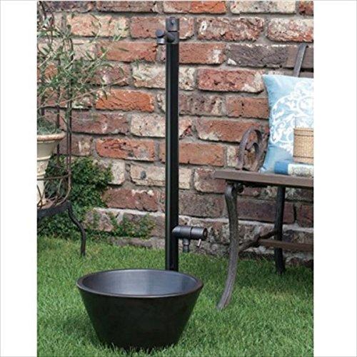 オンリーワン ジラーレW ブラックブロンズメッキ 水栓柱 TK3-SAWBB (専用蛇口補助蛇口付属)+水鉢セット   ブラックブロンズメッキ B01MRWWQJT