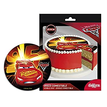Fabulous Cars Round 20Cm 8 Inch Edible Sugar Cake Topper Licenced Product Personalised Birthday Cards Xaembasilily Jamesorg