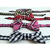 GG Pinkey Lot of 5 Adjustable Pet Neck Bow Tie Collar for dog and cat
